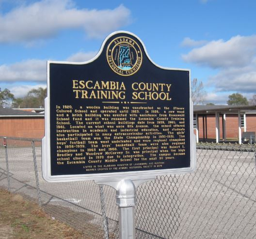 in 1920 a wooden building was constructed as the atmore colored school and operated until 1975 in 1976 a new wood and a brick building was erected with